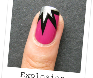 nails, explosion, and pink image