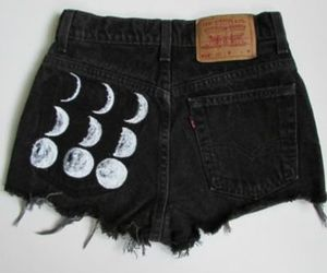 moon, fashion, and shorts image