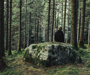 forest, girl, and love image