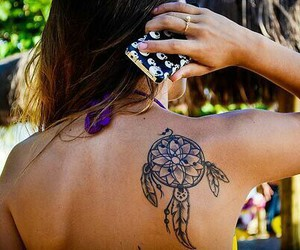 girl, tatto, and nature image