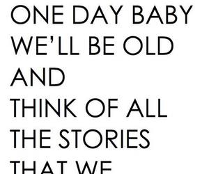 story, one day, and baby image
