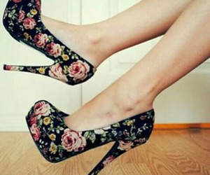 flower, love, and high heels image