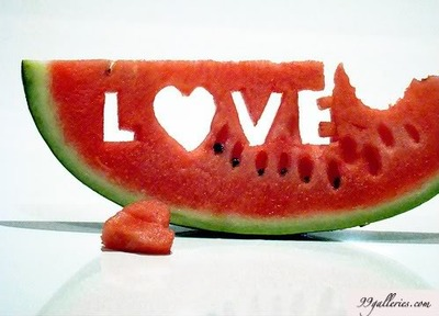 fruit, sweet, and watermelon image