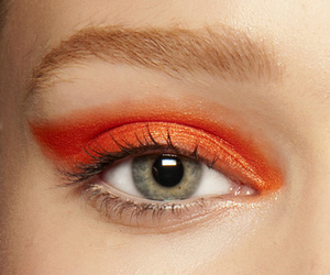 eyes, makeup, and orange image