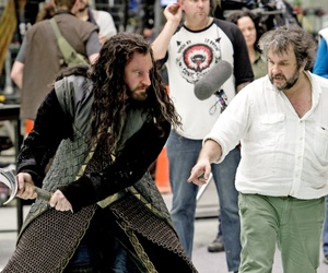 the hobbit, thorin, and peter jackson image