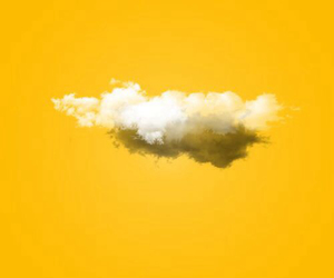 yellow, clouds, and aesthetic image