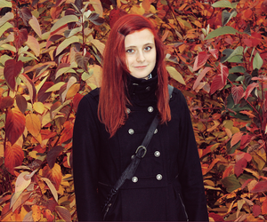 autumn, girl, and redhead image