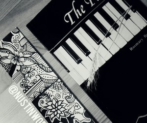 art, doodle, and piano image