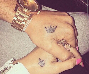 couples, lovely, and tatto image