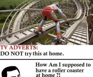 funny, lol, and Roller Coaster image