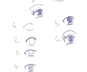 drawing, Easy, and eyes image