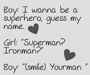 love, boy, and superhero image