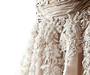 lace, dress, and flowers image