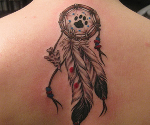cool, tattoo, and dreamcatcher image