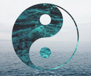 balance, ying yang, and dark image