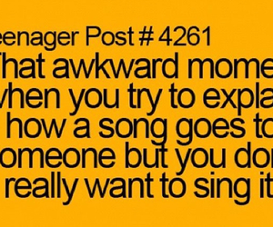 funny, songs, and awkward moment image