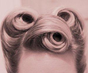 hair, vintage, and curls image