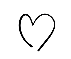 black, black and white, and heart image