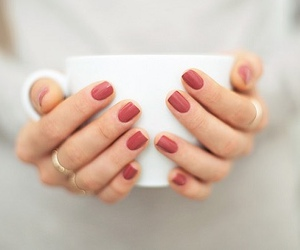 nails, coffee, and style image