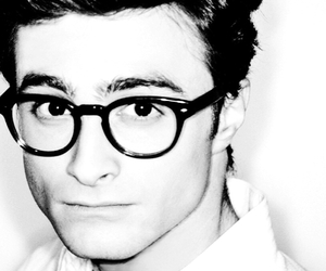 black and white, daniel radcliffe, and fashion image