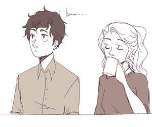 drawing, percy jackson, and lol image