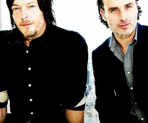 norman reedus, andrew lincoln, and twd image