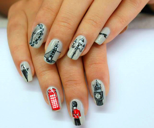 girly, london, and cute nails image