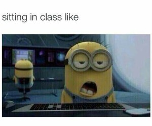 minions, class, and funny image