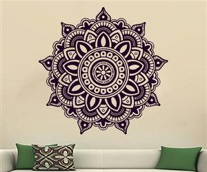 home decor, mandala, and murals image