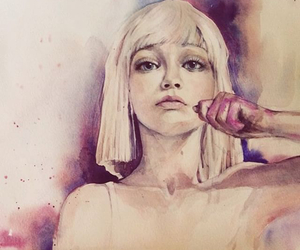 blonde, eyes, and draw image