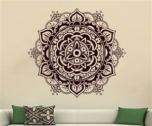 home decor, mandala, and murals image