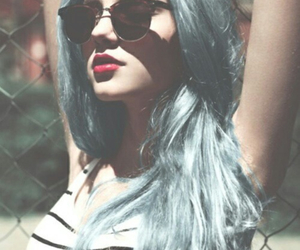 blu, hair, and crazy image