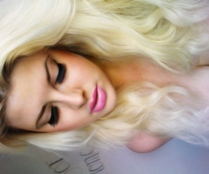 blonde, makeup, and pretty image