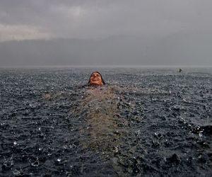 rain, sea, and ocean image