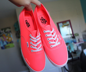 shoes, vans, and neon image