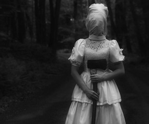 black and white, spooky, and strange image
