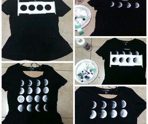 diy, moon, and t-shirt image