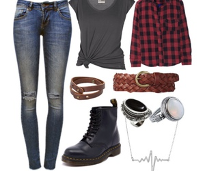 belt, fashion, and flannel image