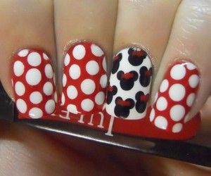 nails, minnie, and red image