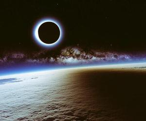 eclipse, space, and moon image