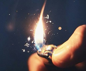 fire, light, and lighter image