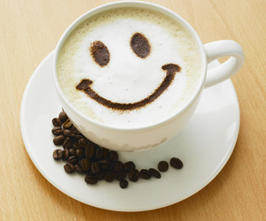 smile, coffee, and coffe image
