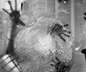 glass, hands, and broken image
