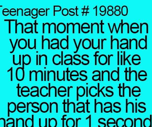 teenager post, funny, and teachers image