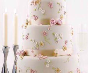 cake, sweet, and wedding image