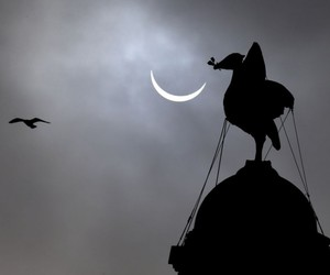 Liverpool, moon, and solar eclipse image