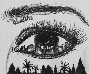 city view, eye, and tumblr drawing image