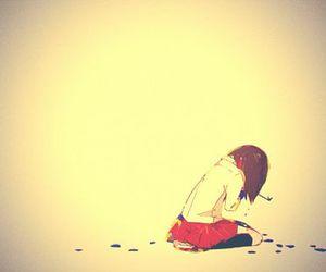 sad, alone, and anime image