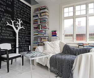 black, books, and home image