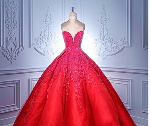 dress, red, and luxury image